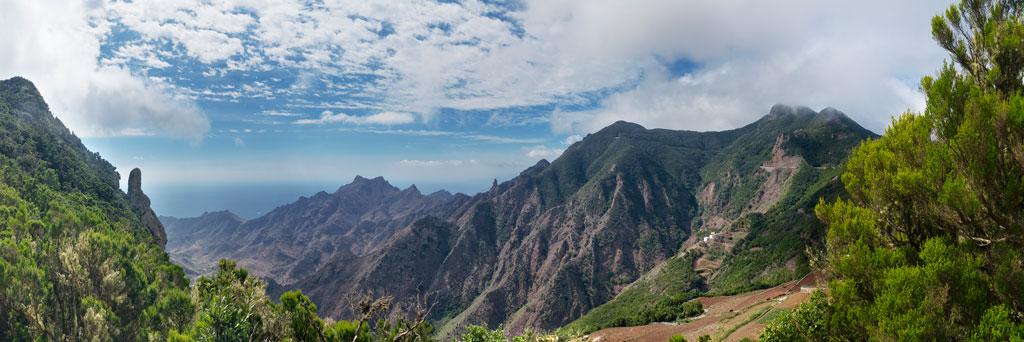 Imagen del macizo montañoso para el post visitar Anaga
